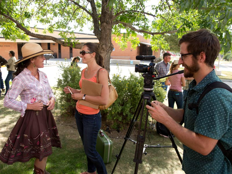 Producer-Virginia-and-DIrector-of-Photography-Kyle-Duba-interview-V-the-Gypsy-Cowbell--Louise-Johns